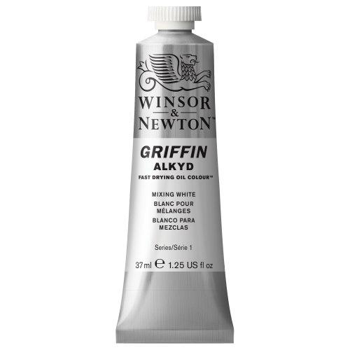 Winsor & Newton Griffin Alkyd - Tubo óleo de secado rápido, 37 ml, Blanco para mezclar
