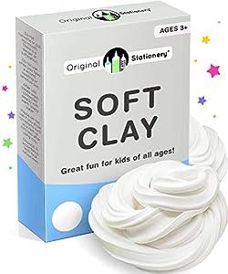 Original Stationery Soft Clay para Slime -Arcilla Suave o Pasta para Modelado Agrega al Pegamento y a la Espuma de Afeitar para un Slime de Mantequilla- 230 gramos -Sirve para 10 Slimes