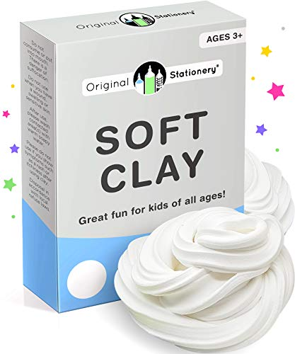 Soft Clay for Slime Supplies - Modeling Clay Art Supplies for Kids - Add to Glue and Shaving Foam to Make Fluffy Butter Slime [230 Grams 9 Ounces Makes +10 slimes