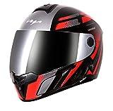 Vega Evo BT Diamond Dull Black Red Helmet- M