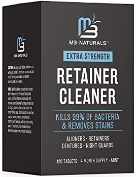 M3 Naturals 120 Tablets Retainer and Denture Cleaner