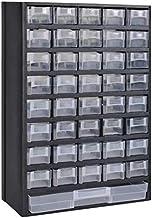 Armario de Almacenamiento de Herramientas con Cajón, Caja de Herramientas con tapa transparente para Casa, Garaje, Taller,...