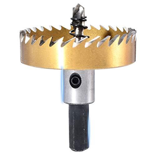 Kit de dientes de sierra de agujero de broca HSS KATUR de 55 mm, cortador de metal de acero inoxidable, herramienta de corte de abridor de cobalto para madera, aleación (55 mm)