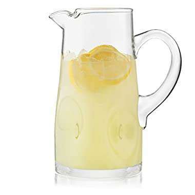 Libbey Impressions Glass Pitcher, 1-80 ounce Glass Pitcher, 10 inch height, Lead-Free