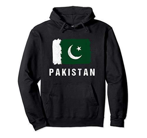 Gemalte Pakistan Fahne / Pakistanische Flagge Fan Geschenk Pullover Hoodie