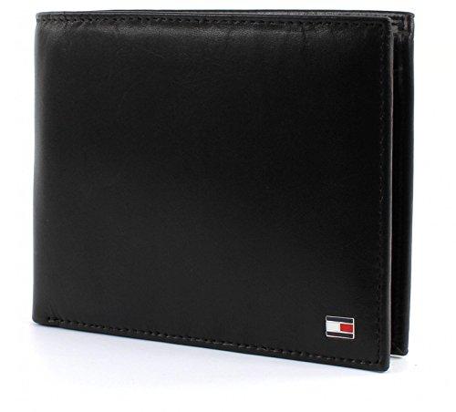 Tommy Hilfiger Herren ETON TRIFOLD Geldbörsen, Schwarz (Black 002), 13x10x2 cm