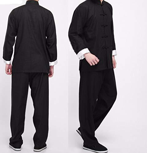 CHIYA-TAICHI Bruce Lee Vintage Chino Wing Chun Kung Fu Uniforme Algodón Seda Artes Marciales Trajes de Tai Chi, Ropa Tradicional de Tai Chi para su Ejercicio de Tai Chi