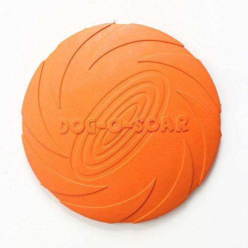 Armadistore - Disco volador para perro, de caucho natural, suave, plegable, flotable