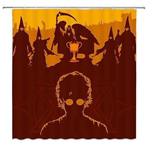 AdaCrazy Harry Potter Cortina de Ducha Hogwarts Witchcraft School and Witchcraft Decoración...