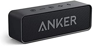 Portable Bluetooth Speaker, Anker SoundCore 24-Hour Playtime Bluetooth Speaker with 10W Dual-Driver Stereo Sound, Rich Bass, 66 ft Bluetooth Range, Built-in Mic. Portable Wireless Speaker for iPhone, Samsung, and More