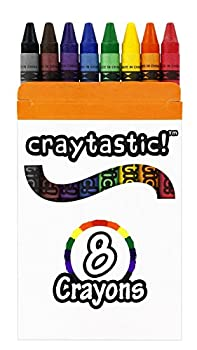 Craytastic! Bulk Crayons 30 Individual Boxes of 8 Colors/Count Class Pack - Full Size Premium  Red Yellow Green Blue Purple Brown Black  Safety Tested Compliant with ASTM D-4236