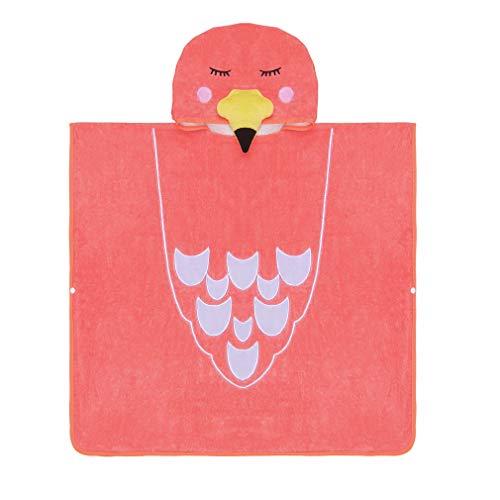 MICHLEY capuchon babydeken handdoek kinderen badponcho meisje badjas 70x70cm katoen dier badhanddoeken voor 2-6 jaar Eén maat Rode vogel