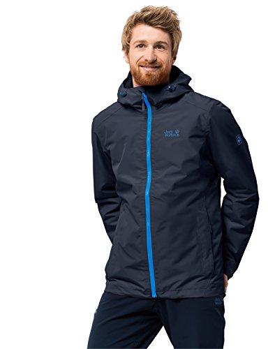Jack Wolfskin Herren Chilly Morning Men Winterwanderjacke Wasserdicht Winddicht Atmungsaktiv Wetterschutzjacke, Night blau, M