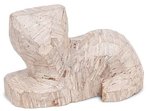 Honsell 79429 Rohling Katze liegend, vorgefertigte Figur aus Speckstein, ca. 10 cm groß, zum Bearbeiten mit Raspel und Feile, ideal auch für Kinder, bunt