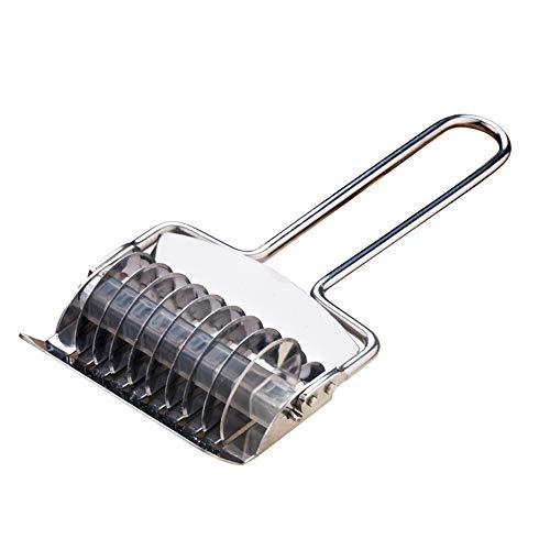 US-DXB Nudelschneider Nudelgitter Roller, Edelstahl Teigschneider Küchenhelfer Kochen Backen Gebäck Werkzeuge