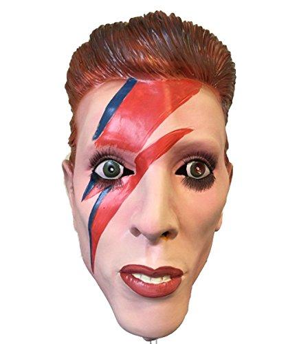 Rubber Johnnies TM Ziggy Bowie Masque Latex par La Tête Stardust Mars David Déguisement Pop Starman Masques