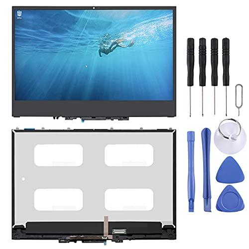 Zhoutao Pantalla LCD del teléfono móvil 1920 x 1080 FHD Pantalla LCD y digitalizador Digitalizador de 30 Pines con Marco para Lenovo Yoga 720-13 720-13ikb 5D10K81089 Piezas de Repuesto del teléfono