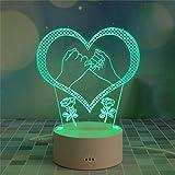 SHIJIE1701AA Pasillo luz de Noche Táctil luz de la Noche 3D Novedad Creativa de cumpleaños de la luz del Regalo 3D decoración del Dormitorio de la lámpara de la ilusión Luz Nocturna