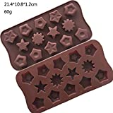 Cake Tins 1Pc Silicone Cake Molds Star Shaped Mousse Mould Chocolate Jelly Fondant Ice Cube Bakeware Cake Decorating Tools,C,