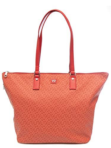 YNOT BORSA DONNA gummy shopping bag large ROSSO GU1019.Red