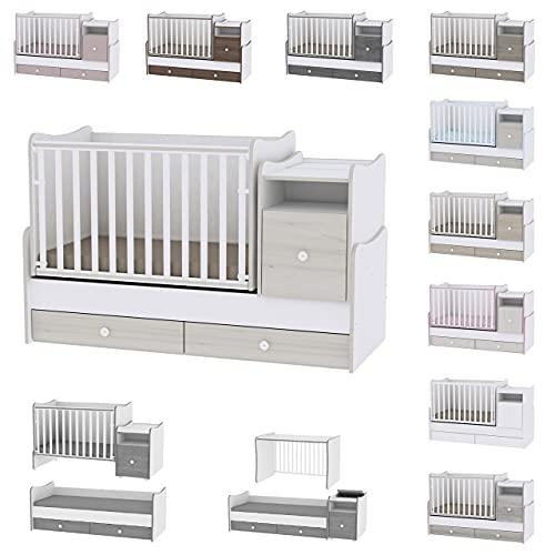 Lit bébé évolutif/combiné Trend Plus Chêne Clair Lorelli (Le lit se transforme en : lit...