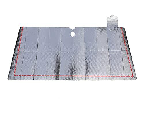 LINMAN Coche Estilizador Coche Parabrisas Sombrero Plegable Aluminio Película Anti UV Protección Plegable Windshield Sun Shade Visor Accesorios para automóviles (tamaño : 140 150x80cm)