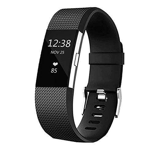 Replacement Bands for Fitbit Charge 2, Silicone Adjustable Classic Bands for Fitbit Charge 2,Women Men