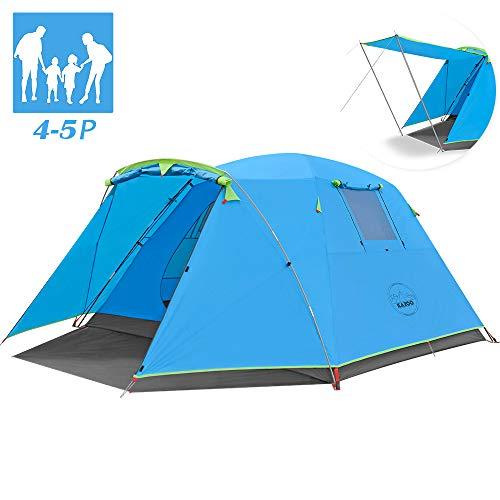 KAZOO Kuppelzelte Familienzelt 4 Person Mann,Wasserdicht Campingzelt Zelt Für Wandern Reisen Strand,Doppelwandig Kuppelzelt Zelt Mit Vorraum, Wurfzelte 3000mm
