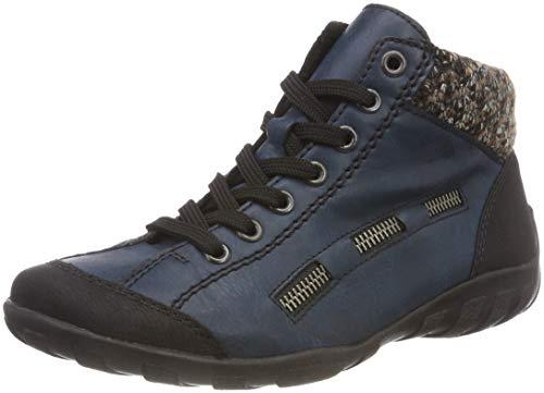 Rieker Damen L6543 High-Top, Blau (Schwarz/Navy/Terra 00), 36 EU