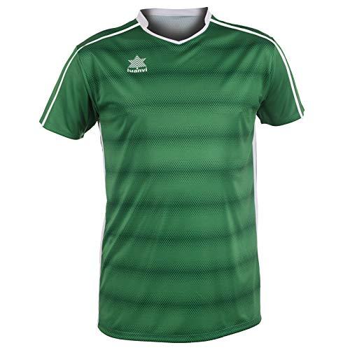 Luanvi Olimpia Camiseta de Fútbol, Hombre, Verde, L