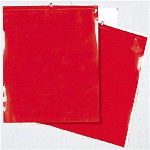 Warnflaggen rot nach StVO für überhängende Lasten, 30 x 30 cm (2 Stück) (Schlussfahne, Signalfahne, Endfahne) wetterfest