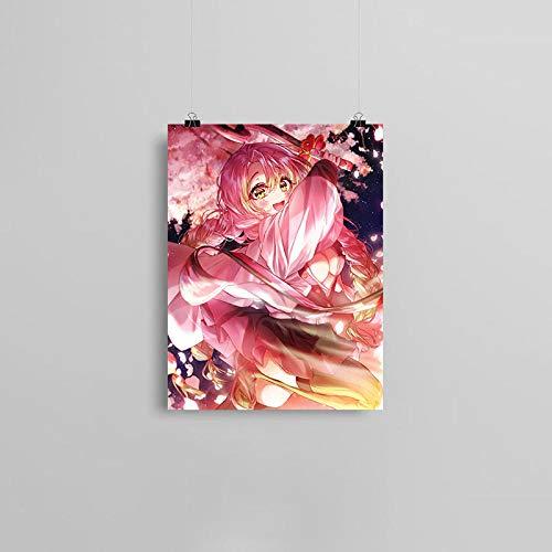 wZUN Anime Lienzo Cartel Pintura Pared Arte decoración Sala de Estar Dormitorio Estudio decoración del hogar impresión 57x80cm Sin Marco
