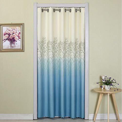 MaoDaAiMaoYi Liuyu Middot Living House Door Curtain slaapkamer Unico Four Seasons badkamerkast op maat (kleur blauw maat W100 150 x L180 cm)