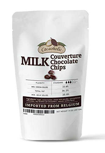 14 oz Cacaoholic - Milk Couverture Chocolate Chips | Standard Fluidity...