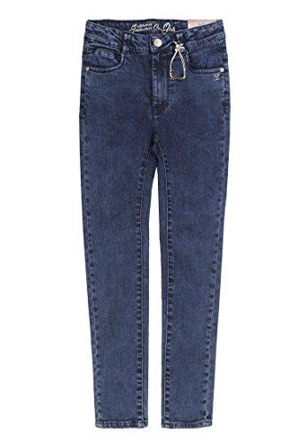Lemmi Mädchen Jeanshose Jeggings Jeans Girls Mid, Blau (Dark Blue Denim 0012), 128