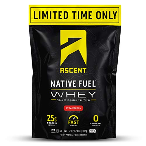 Ascent Native Fuel Whey Protein Powder - Strawberry - 2 lbs