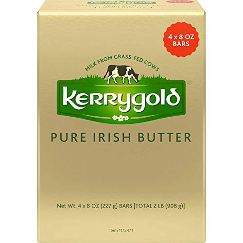Kerrygold Pure Irish Butter, Salted, 32 oz (Four, 8 oz Bars)