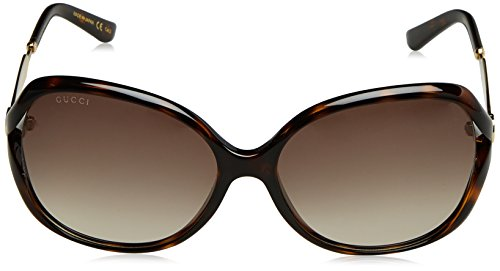 Fashion Shopping Gucci Women's Oval Sunglasses – Havana/Brown, 60-16-130