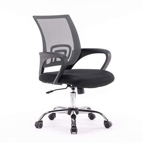 JLSun Loywe, Bürostuhl Schreibtischstuhl, ergonomischer Drehstuhl mit Netzrücken, Wippfunktion Feste Armlehne höhenverstellbar, Grau Chefsessel mit Mesh Netz in Grau, JLB011-Grau