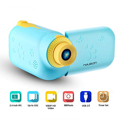 """Video Camera for Kids, hyleton 1080P FHD Digital Kids Camera Camcorder Video Recorder with 2.4"""" Screen for Age 3-10"""