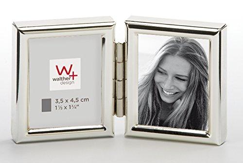 walther design WD235S Chloe Portraitrahmen 2x 3, 5x4, 5 cm, silber
