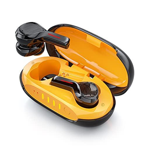 Auriculares Inalambricos Bluetooth 5.1, Auriculares Bluetooth Deportivos con Cancelación de Ruido Ambiental, 2 Micrófono y 4 Altavoz, 8 Puertos de Carga, Carga Rápida, Control Táctil