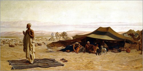 Posterlounge Leinwandbild 100 x 50 cm: Morgengebet. 1872 von Frederick Goodall/ARTOTHEK - fertiges Wandbild, Bild auf Keilrahmen, Fertigbild auf echter Leinwand, Leinwanddruck