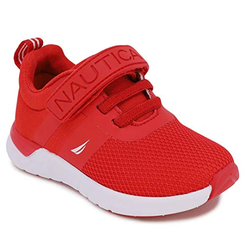Nautica Kids Boys Fashion Sneaker Athletic Running Shoe with Stap for Toddler and Little Kids-Towhee 2 Saga-Red Mesh Neo-7