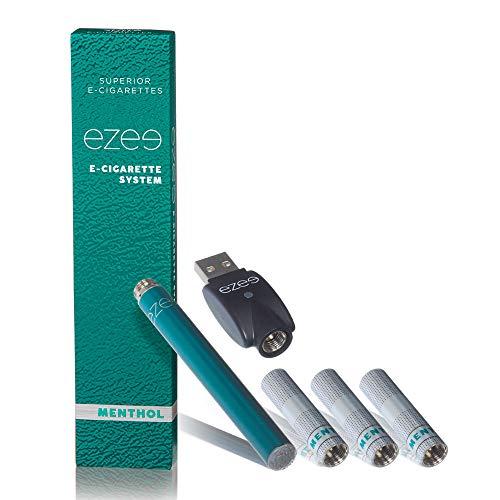 Ezee E Zigarette Starterset Menthol Geschmack E-Liquid Nikotinfrei Elektronische Verdampfer 297 mAh wiederaufladbare Batterie Mit 3 einweg Depots (filters)