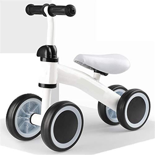 CHUTD Bicicleta de Equilibrio para niños, Andador Deslizante para bebés, Bicicleta de Cuatro Ruedas es el Primer Regalo de cumpleaños para niños de 1 a 2 años, niñas y niños, Color Blanco