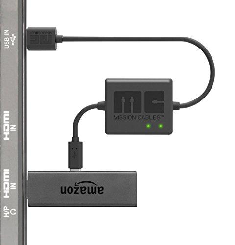 Mission Cables USB Stromkabel (für Fire TV Stick) schwarz