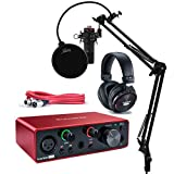 Focusrite Scarlett Solo Studio 3rd Gen USB Audio Interface and Recording Bundle...