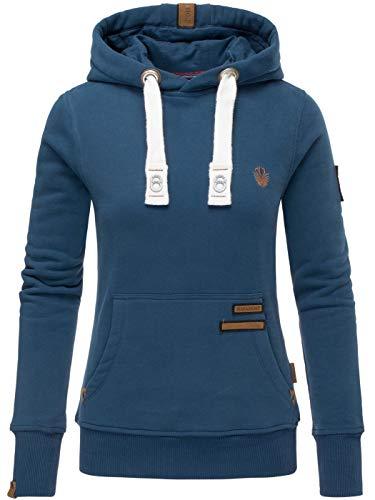 Navahoo Damen Sweatshirt Hoodie Pullover Pulli Sweater Kapuze warm B686 [B686-Daml-Navy-Gr.M]