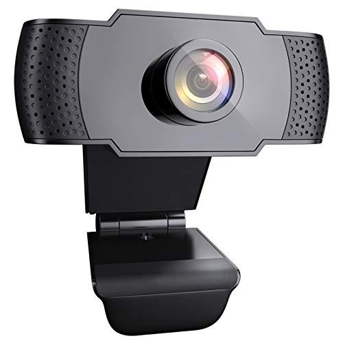 wansview Webcam avec Microphone, Webcam PC FHD 1080P avec USB 2.0 pour Appel vidéo, Étude en Ligne, Conférence, Enregistrement, Jeux avec Base Ajustable